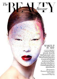 beautyscenenet: MAKEUP IS ART FOR HARPER'S BAZAAR THAILAND...