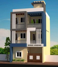 Top 30 Most Beautiful Houses Front Designs 2019 - Engineering Discoveries House Front Wall Design, Small House Design, Modern House Design, 3 Storey House Design, Bungalow House Design, Jacuzzi, West Facing House, Narrow House Designs, Indian House Plans