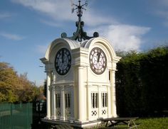 Crumpsall Biscuit Works factory clock, fancy top knot for your shed eh!