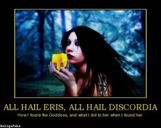 """ERIS was the goddess or spirit (daimona) of strife, discord, contention and rivalry. She was often represented specifically as the daimon of the strife of war, who haunted the battlefield and delighted in human bloodshed.  Because of Eris' disagreeable nature she was the only goddess not to be invited to the wedding of Peleus and Thetis. When she turned up anyway, she was refused admittance and, in a rage, threw a golden apple amongst the goddesses inscribed """"To the fairest."""" Three goddesses…"""