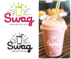 New Smoothie Bar logo design , We need a logo design for a new company based in Atlanta, GA called Swag Smoothies. Our business will be a smoothie bar that offers a large variety. Fruit Juice Recipes, Fruit Drinks, Smoothie Recipes, Juice Logo, Juice Branding, Juice Bar Design, Fruit Packaging, Brand Packaging, Packaging Design