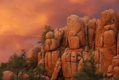 Sunset in the Granite Dells of Prescott. Photo by Walt Anderson.