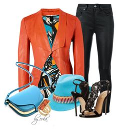 """""""Coral, Black and Turquoise (Outfit Only)"""" by eula-eldridge-tolliver ❤ liked on Polyvore featuring Yves Saint Laurent, Richards Radcliffe, Peter Grimm, Dsquared2, Kenneth Cole, MyStyle, july, contestentry and fashionset"""