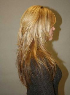 Long Choppy Hair Side View