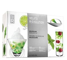 buy now   £29.99  The R-Evolution Molecular Mojito Kit is a scientific cocktail kit of 3 unique recipes! Contains 4 sachets of Sodium Alginate, 4 Calcium Lactate, 2 of Soya Lecithin.  ...Read More