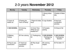 preschool lesson plans for october | november preschool lesson plan