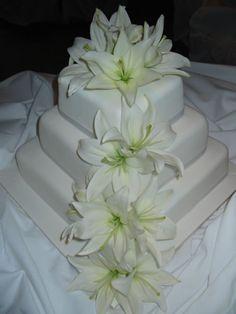 Wedding Cake Stargazer Lilies