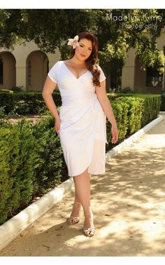 Ava Dress in White - Plus Size - Plus Size - Clothing | Pinup Girl Clothing