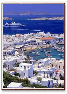 Greece. Gorgeous water, architecture, and History!