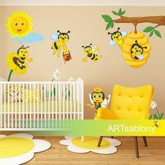 (3519f) Nálepky na stenu- Včelie kráľovstvo | ARTSABLONY.SK