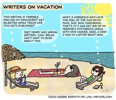 Writers On Vacation by Debbie Ridpath Ohi