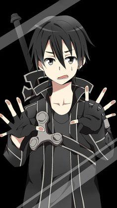 Anime Characters Behind Glass || Kirito