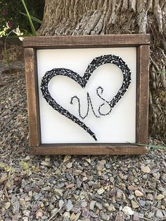 This heart us string art makes a great gift for your significant other or is great for a wedding gift! Add this to your bedroom decor for a daily reminder of how much you love your us! Sign measures 8.5 x 8.5. String art comes ready to hang. Each item is made to order. Please allow 2-3