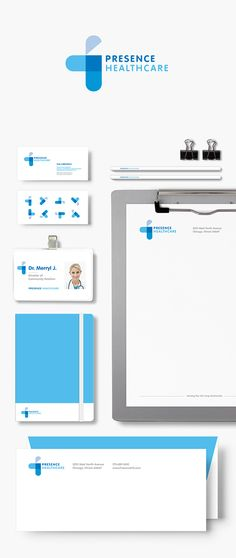 Creative Medical Branding and Healthcare Logos for Inspiration - Design /// Branding / Identity - Presence Healthcare by Minjoo Kim - Brand Identity Design, Corporate Design, Branding Design, Branding Ideas, Identity Branding, Medical Design, Clinic Logo, Brand Manual, Corporate Identity