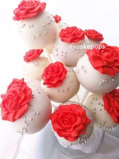 Red Rose Cake Pops