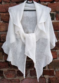 SALE White Linen Scarf Shawl Wrap Stole Light by Initasworks, $55.25
