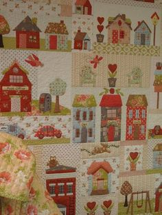 New patchwork quilt applique simple Ideas House Quilt Block, House Quilts, Quilt Blocks, Patchwork Quilting, Applique Quilts, Quilting Projects, Quilting Designs, Sewing Projects, Quilt Baby