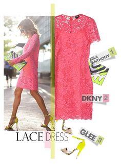 """""""Lovely Lace Dresses"""" by meyli-meyli on Polyvore featuring moda, Nila Anthony, DKNY e lacedress"""