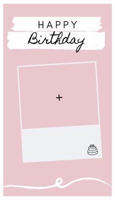 Happy Birthday Template, Happy Birthday Frame, Happy Birthday Posters, Happy Birthday Wallpaper, Birthday Posts, Birthday Frames, Birthday Cards, Birthday Collage, Pink Birthday