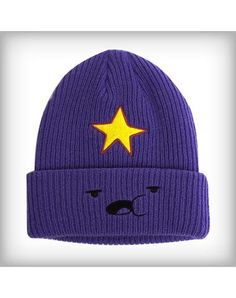 Adventure Time 'Lumpy Space Princess' Knit Hat - The officially licensed Adventure Time 'Lumpy Space Princess' Knit Hat is a purple winter cap not only features embroidered character graphics, includ Lumpy Space Princess, Cute Comfy Outfits, Trendy Outfits, Cool Outfits, Cute Beanies, Mode Chanel, Kawaii Clothes, Girly, Stylish Clothes