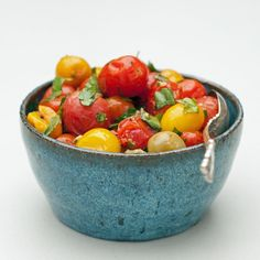 Pin for Later: More Than 60 Easy Vegetarian Sides Roasted Tomatoes and Herbs Get the recipe: roasted tomatoes and herbs.