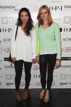 Alex and Laura at the Fashion Monitor AW12 party