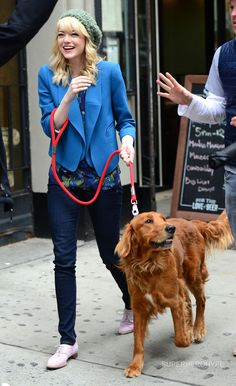 Emma and Andrew Garfield are the proud parents of a Retriever mix who was rescued from a high-kill L.A. county shelter.