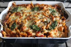 Chicken enchilada pasta bake