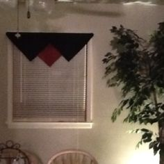 Valance made with napkins