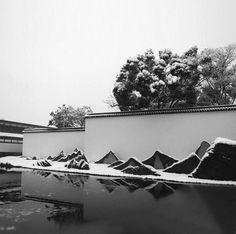 苏州博物馆 Suzhou Museum www.gstarcad.net Chinese Architecture, Landscape Architecture, Landscape Design, Garden Design, Chinese Courtyard, Chinese Garden, Suzhou Museum, Zen Rock Garden, Stone Walkway