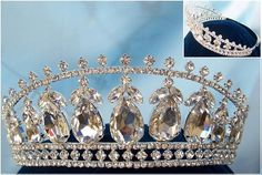 Beauty Pageant Queen Princess Bridal rhinestone crown tiara The Michelle Louise A must have of a tiara, this is an elegant, timeless and ultra feminine piece, ideal for many varied events. Featuring l