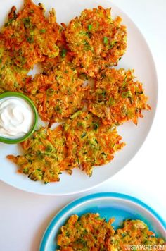Quick and Crispy Vegetable Fritters @justataste
