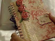Beautiful! My first shabby chic smash book / junk journal / mini album - YouTube