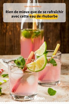 Rhubarb water - Rhubarb water, a refreshing drink to discover - Tea Recipes, Summer Recipes, Indian Food Recipes, Snack Recipes, Healthy Recipes, Rhubarb Recipes, Rhubarb Water, Tumblr Food, Flower Food