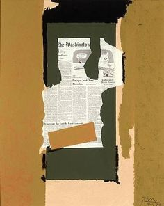 Robert Motherwell, News from Nowhere, acrylic and collage on canvas, x 24 inches. Robert Motherwell, Dada Collage, Collage Art Mixed Media, Abstract Expressionism, Abstract Art, Sketchbook App, Colorful Paintings, Contemporary Paintings, Wedding Tattoos