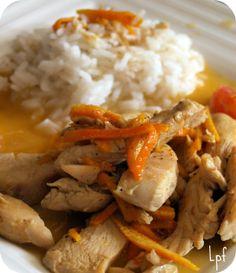 Aiguillettes de poulet à l'orange et aux épices #poulet #agrumes