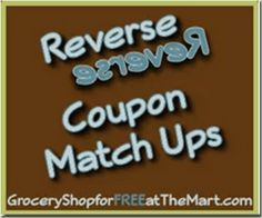 6/14 Reverse Coupon Matchups are up!
