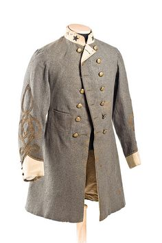 Uniform Coat worn by Edward Willis (Charleston, SC) who served as chief quartermaster on the staff of General P.G.T. Beauregard.