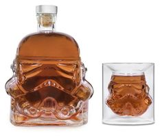 These are the Star Wars Stormtrooper decanter bottles and shot glasses available from The Fowndry. They were based on the stormtrooper mask molds created by industrial designer Andrew Ainsworth in 1976 for the original Star Wars film. The decanter...