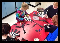 Illusion of Space | WEST MIDDLETON ART SMARTIES Gr. 3: Spheres in Space, use construction paper