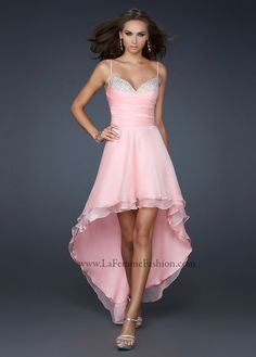 La Femme Style 17141 Prom Dress available in Cotton Candy Pink, Aqua, Peacock, White, Wisteria, Yellow