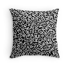 'Alphabet' Throw Pillow by imagology Framed Prints, Canvas Prints, Art Prints, Duvet Covers, Alphabet, Finding Yourself, Cushions, Throw Pillows, Design