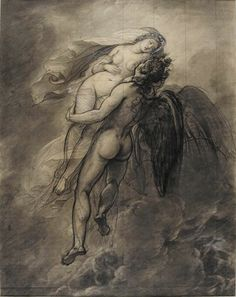 Joseph-Ferdinand Lancrenon, Study for Boreas and Oreithyia, c. 1822