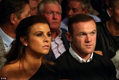 Fight fans: Coleen Rooney accompanied husband Wayne to watch Anthony 'Million Dollar' Crolla take on Jorge Linares in a world title unification fight inside Manchester Arena on Saturday