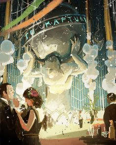 regram @ilovefantasyart Title: Rapture Before The Fall  Artist: Scott Duquette  #picoftheday #instagood #digitalart #digitalpainting  #fantasy #fantasyart #followme #sweet #tagsforlikes #wow #ilovefantasyart #cgart #cool #creativity #inspiring #artsy #omg #best  #followme #artwork #art #irunmarathon #illustration #instadaily #painting #instamood #follow #love #storytelling #bioshock