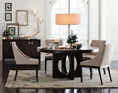 Classy modern dining room furniture sets decorating ideas picture throughout Contemporary Dining Room Decor Contemporary Dining Room Lighting, Elegant Dining Room, Modern Dining Chairs, Upholstered Dining Chairs, Modern Contemporary, Modern Lighting, Kitchen Lighting, Dining Room Furniture Sets, Dining Room Design