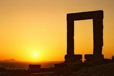 Temple of Apollo on the island Naxos, Greece