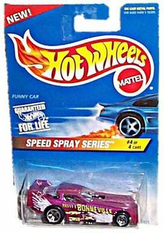 Hot Wheels - Speed Spray Series - #4 of 4 - Funny Car (Magenta) - Collector #552…