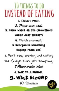 10 things to do instead of eating