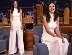 #sassandbide | THAT TICKLES | Victoria Justice on The Tonight Show starring Jimmy Fallon in our That Tickles pant from #KISSTHESKY collection
